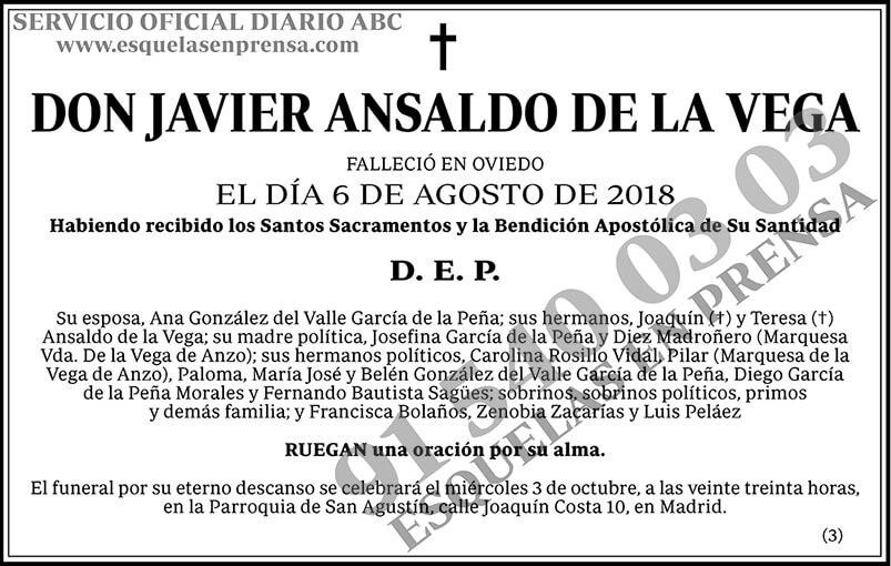 Javier Ansaldo de la Vega